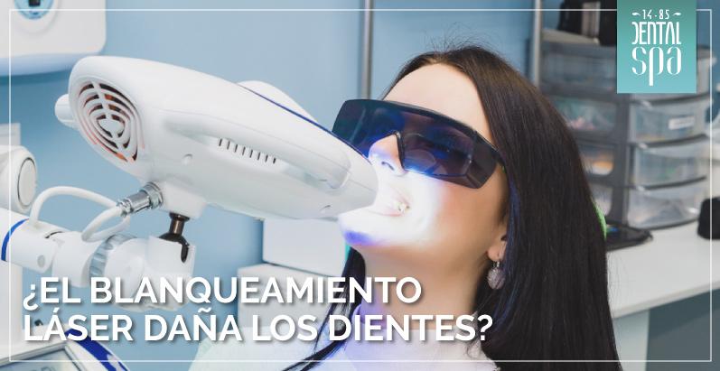 El blanqueamiento láser daña los dientes