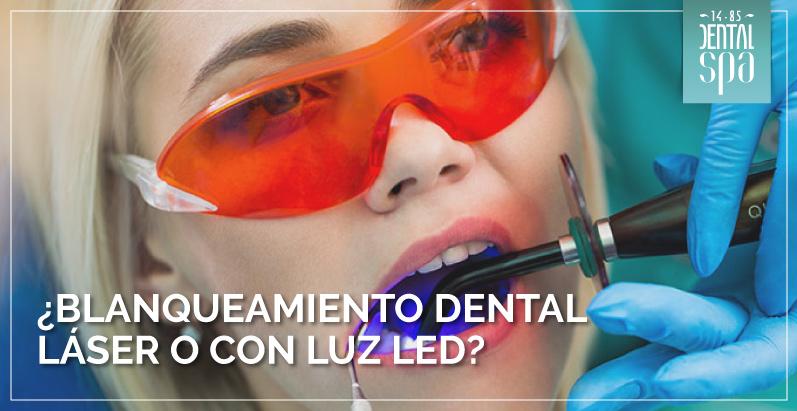 ¿Blanqueamiento dental láser o con luz LED?