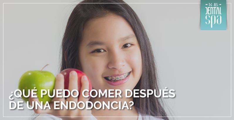 ¿Qué puedo comer después de una endodoncia?